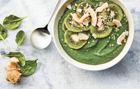 groene smoothie bowl ontbijt gezond